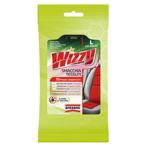 Wizzy Smacchia Tessuti panno pulizia sedili auto rimuovi macchie 10 salviette