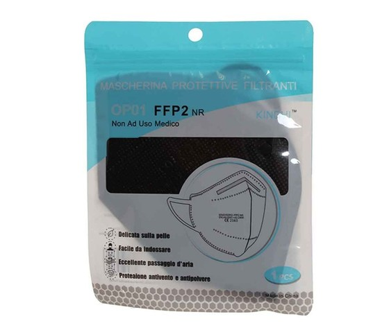 Mascherine ffp2 nere strati 5 pz 20 %281%29