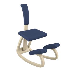 Varier Variable con schienale+cuscino naturale Revive blu