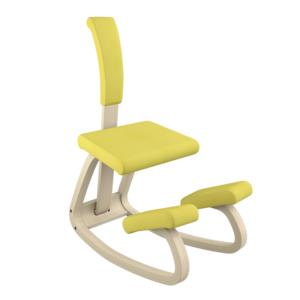 Varier Variable con schienale+cuscino naturale Revive giallo