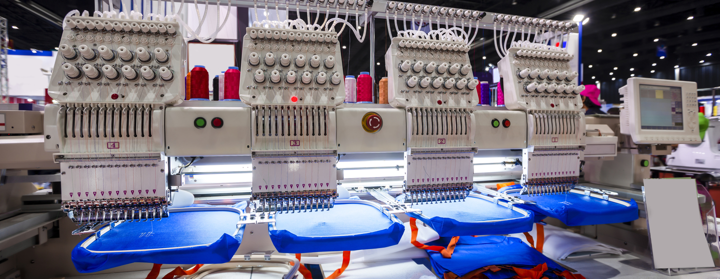 Textile professional and industrial embroidery machine machine embroidery is an embroidery process whereby a sewing machine or embroidery machine is used to create patterns on textiles