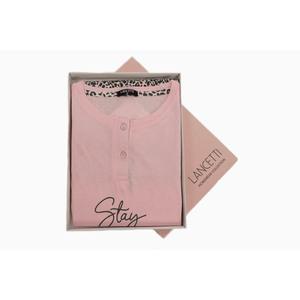 Pigiama Donna Corto Lancetti Cotone LSW00062 Calibrato Pink