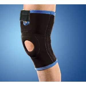 Ginocchiera ortopedica tubolare con stabilizzatore rotuleo in silicone neotex Tielle Camp 4022