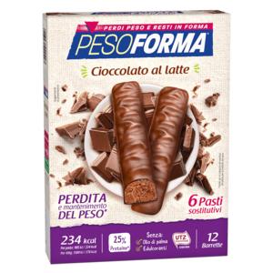 pesoforma Il mio pasto barrette al cioccolato al latte 12 x 31 g