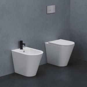 Vaso + bidet Forma dell'Azzurra bianco lucido e sedile soft close