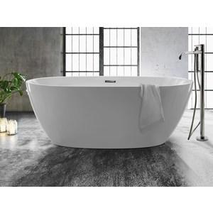 Vasca freestanding in puro acrilico cm 170x78xh 59 bianco