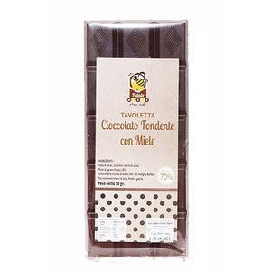 Tavoletta di cioccolato fondente con miele