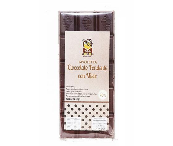 Tavoletta di cioccolato e miele