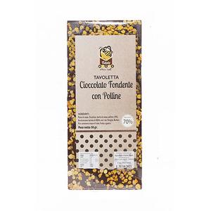 Tavoletta di cioccolato fondente con polline
