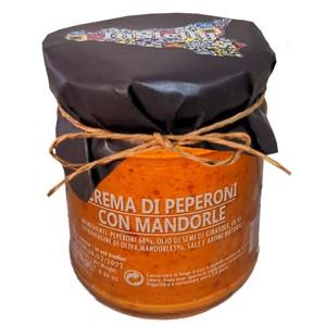 Crema di peperoni e mandorle conf 2 pz da 180 gr l'uno