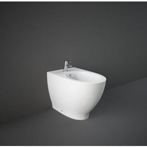 Coppia di sanitari wc e bidet Rak serie Moon colore bianco alpino