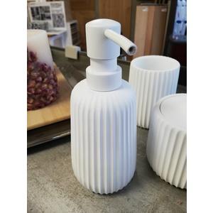 Dispenser CIPI' PLISSE' BIANCO con pompa in ABS satinata - Dispenser pump ABS satin finish