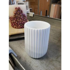 Bicchiere Glass PLISSE' BIANCO CIPI' Misure – Sizes Ø 9x11h cm