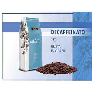 caffè decaffeinato busta in grani 1kg