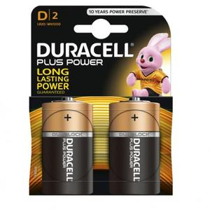 Pile Torcia D Plus MN1300 - Duracell - blister 2 pezzi