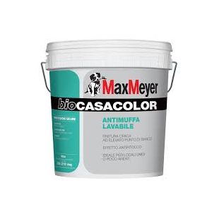 """PITTURA ANTIMUFFA LAVABILE BIOCASACOLOR 4LT BIANCA MAXMEYER ml0,750"""