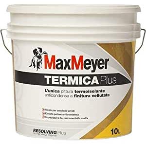 """TERMICA Plus MaxMeyer Pittura murale Anticondensa, Antimuffa Termoisolante 10 lt BIANCA"""