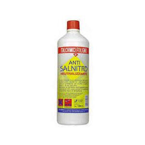 detergente specifico per neutralizzare il salnitro che si forma sui muri e calcestruzzi, evita le effluorescenze