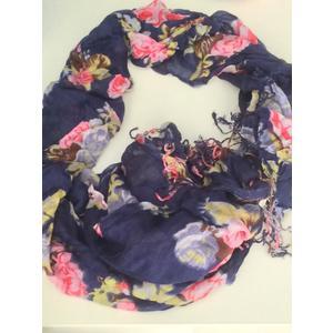 PASHMINA FLOWER BLUE