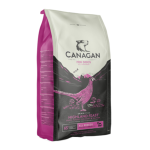 CANAGAN CANE ALL BREEDS HIGHLAND FEAST ANATRA, TACCHINO, FAGIANO, SALMONE 2 KG