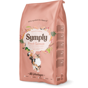 SYMPLY GATTO ALL LIFESTAGES PER TUTTE LE ETA' SALMONE FRESCO 1,5 KG
