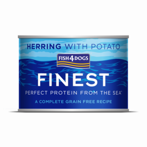 FISH4DOG UMIDO CANE ADULT FINEST HERRING WET COMPLETE CON ARINGHE E PATATE 185 GR
