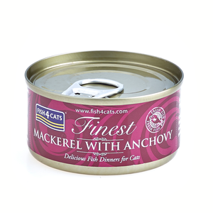 FISH4CATS FINEST MACKEREL WITH ANCHOVY SGOMBRO CON ACCIUGHE 70 GR