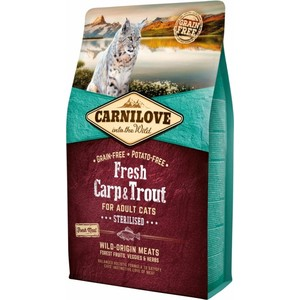 CARNILOVE CAT GATTO FRESH STERILISED CARPA E TROTA 2 KG
