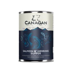 CANAGAN UMIDO CANE SALMON & HERRING SUPPER / CENA DI SALMONE E ARINGA 400G