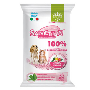 SALVIETT'IN SPECIAL SALVIETTE BIODEGRADABILI 100% ARGAN & CAMELIA 35 PZ