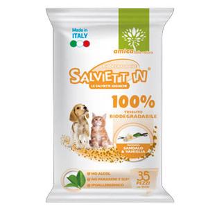 SALVIETT'IN SPECIAL SALVIETTE BIODEGRADABILI 100% SANDALO & VANIGLIA 35 PZ