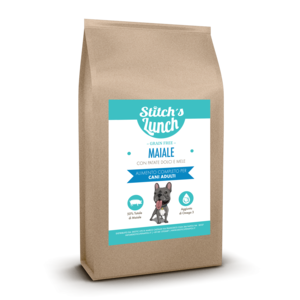 STITCH'S LUNCH MONOPROTEICO GRAIN FREE ALL BREEDS ADULT MAIALE CON PATATE DOLCI E MELE
