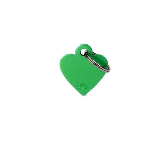 Medaglietta collezione basic cuore piccolo verde in alluminio