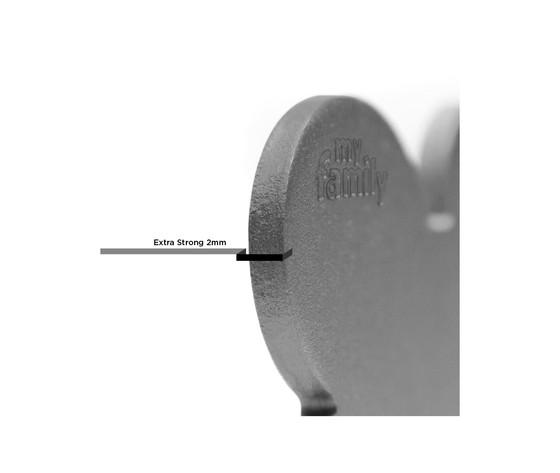 Medaglietta collezione basic osso piccolo grigio in alluminio %281%29