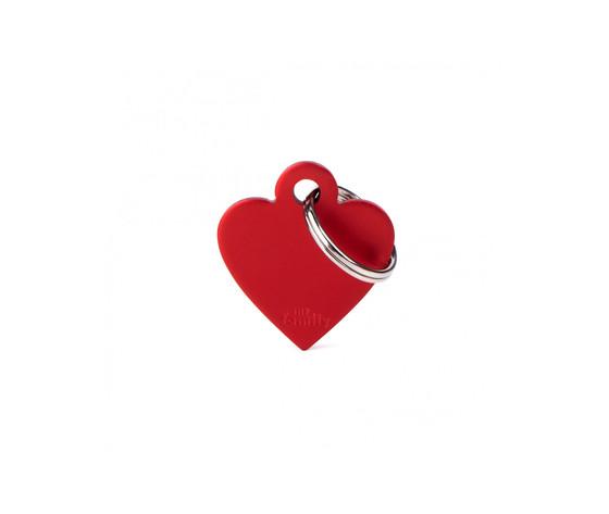 Medaglietta collezione basic cuore piccolo rosso in alluminio