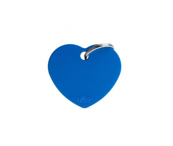 Medaglietta collezione basic cuore grande blu in alluminio