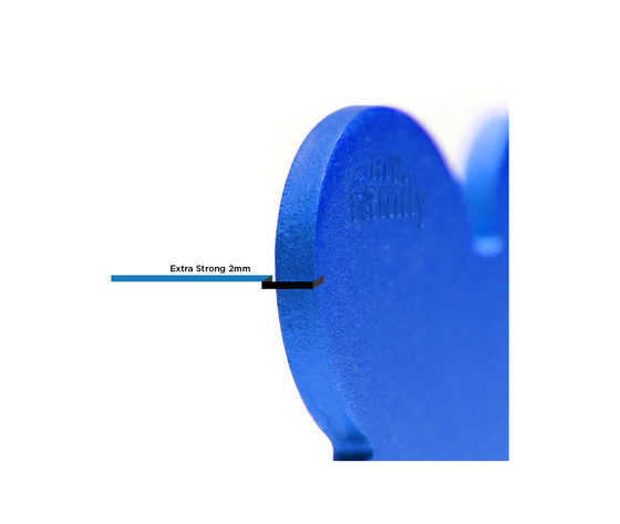 Medaglietta collezione basic cuore grande blu in alluminio %281%29