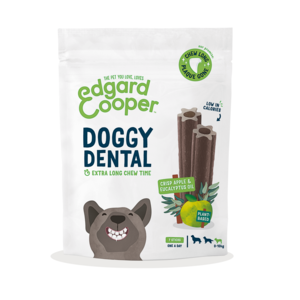 EDGARD & COOPER CANE DOGGY DENTAL MELA & ECUCALIPTO SMALL 7 STICKS