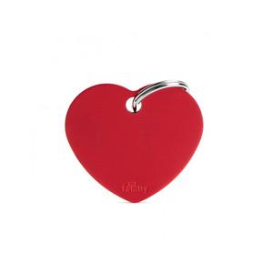 Medaglietta collezione Basic Cuore Grande Rosso in Alluminio