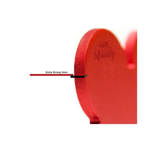 Medaglietta collezione basic cuore grande rosso in alluminio %281%29