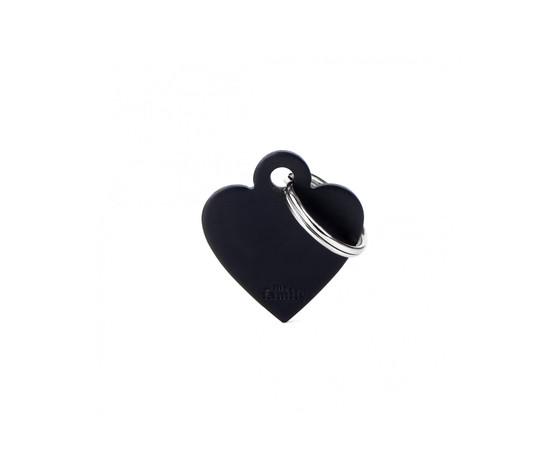Medaglietta collezione basic cuore piccolo nero in alluminio