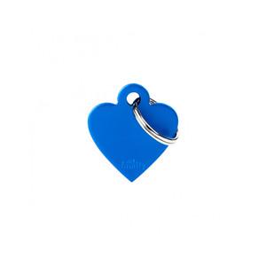 Medaglietta collezione Basic Cuore Piccolo Blu in Alluminio
