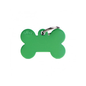 Medaglietta collezione Basic Osso Grande verde in Alluminio