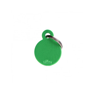 Medaglietta collezione Basic Cerchio Piccolo Verde in Alluminio