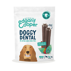 EDGARD & COOPER CANE DOGGY DENTAL MENTA & FRAGOLA MEDIUM 7 STICKS