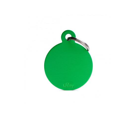 Medaglietta collezione basic cerchio grande verde in alluminio