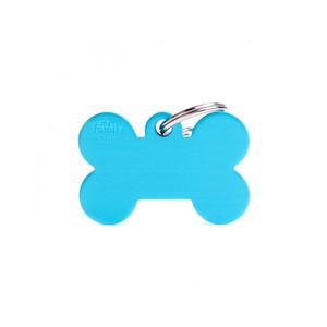 Medaglietta collezione Basic Osso Grande Azzurro in Alluminio