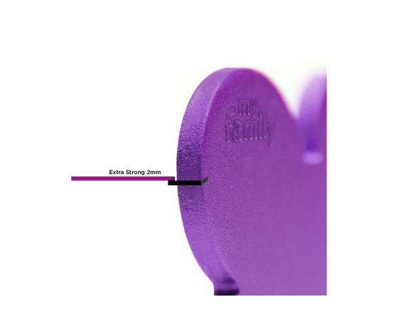 Medaglietta collezione basic osso grande viola in alluminio %281%29