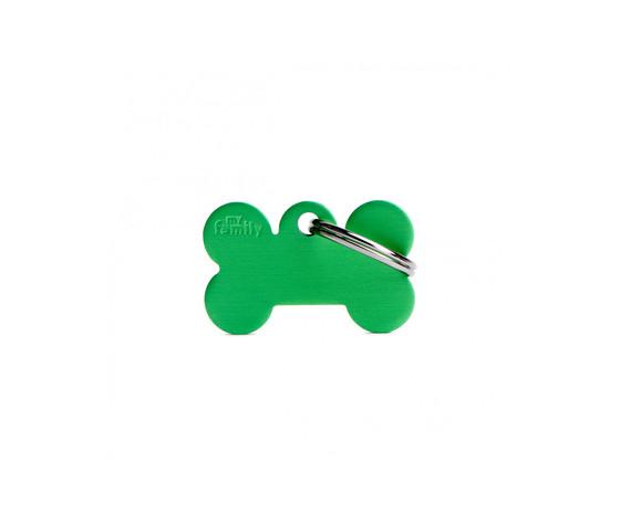 Medaglietta collezione basic osso piccolo verde in alluminio