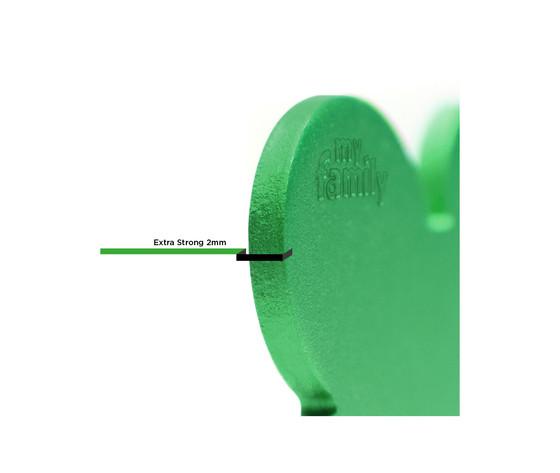 Medaglietta collezione basic cuore piccolo verde in alluminio %281%29